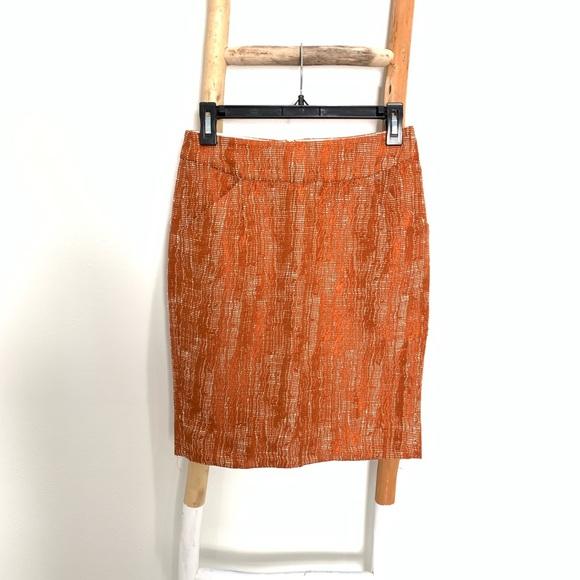 J. Crew Dresses & Skirts - J Crew Metallic Orange Pencil Skirt